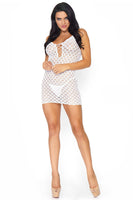 Lace Mini Dress Chemise And G-String