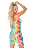 Rainbow Checkerboard Romper