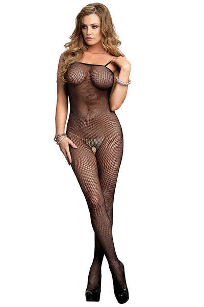 Spaghetti Strap Fishnet Bodystocking