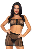 Fishnet Bandeau Top Set