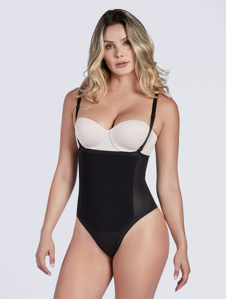 Convertible strap thong bodysuit