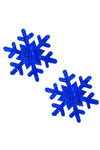 Super Sparkle Blue Glitter Snowflake Pasties