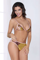 Two Tone Sequin Bra and Panty Set