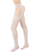 Glitter Pantyhose with Thigh Cutouts