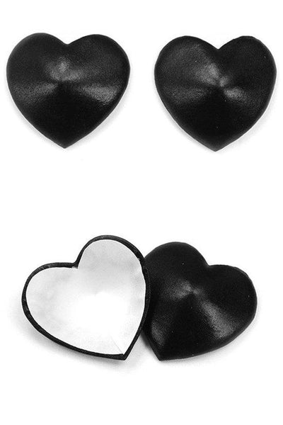 Satin Heart Nipple Covers