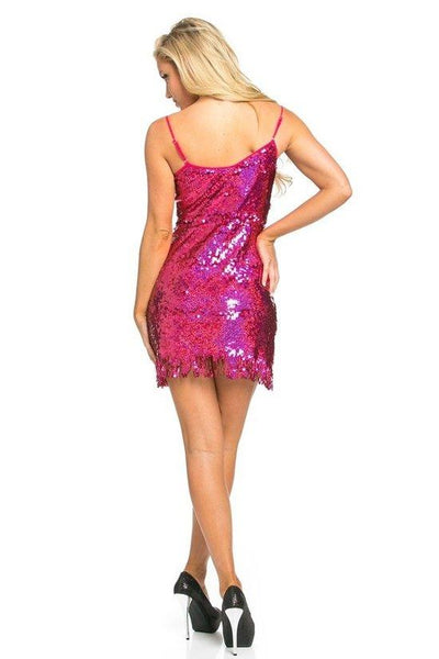 Mid-Thigh Sequin Dress