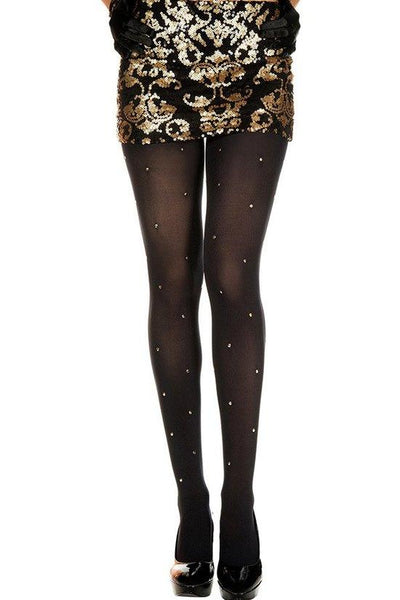 Golden Studs Spandex Tights