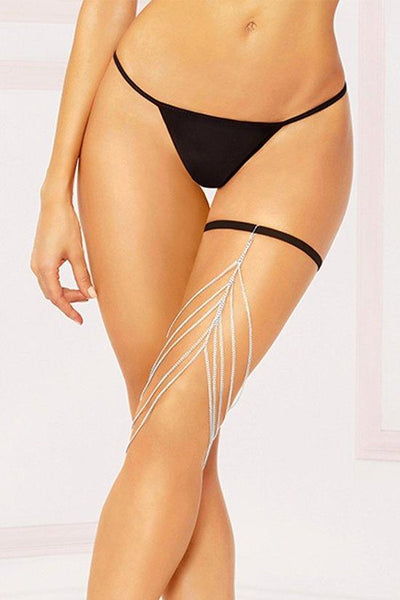 Multilayered Thigh Chain with Garter