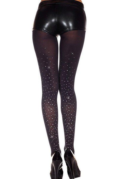 Faux Rhinestones Spandex Tights