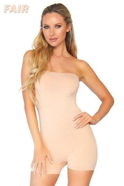 Seamless Opaque Strapless Romper