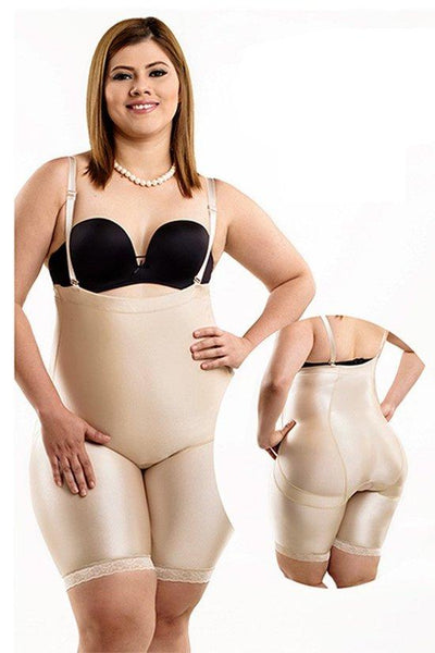 Seamless Body Shaper with Adjustable & Removable Straps