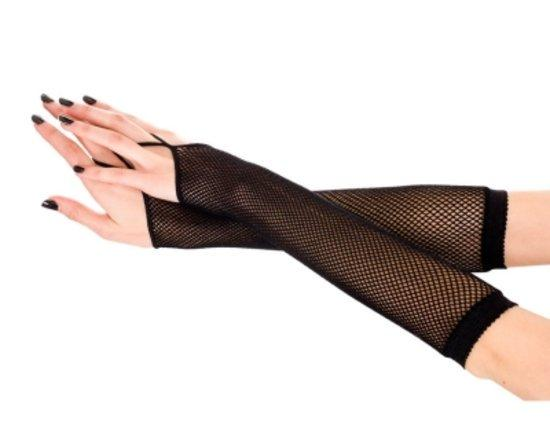 Fishnet Arm Warmer with Finger Loop