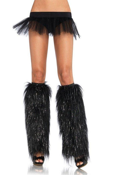 Furry Lurex Leg Warmers