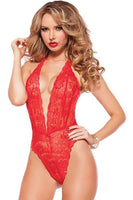 Floral Lace Plunging Teddy