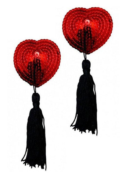 Heart-shaped Sequin Pasties with Tassles