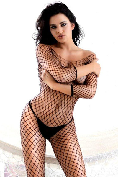 Open Gauge Fishnet Bodystocking
