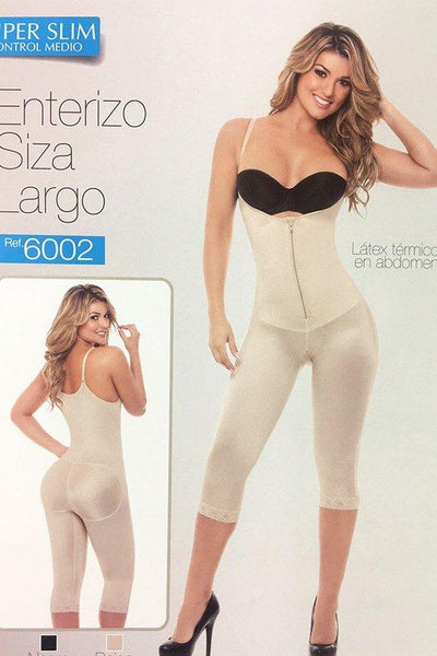 Calf-Length Open Crotch Body Shaper