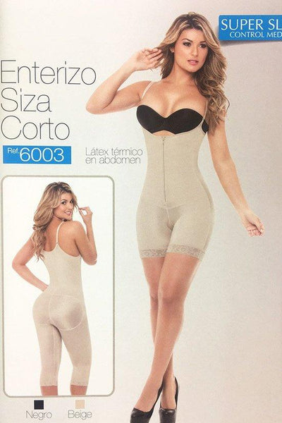 Mid-Thigh Open Bust Body Shaper