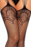 Industrial Net Stockings with Duchess Lace Top