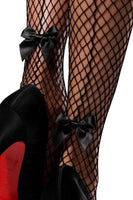 Industrial Net Backseam Thigh Highs