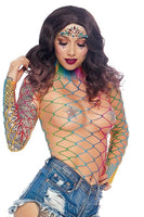 Fence Net Long Sleeved Bodysuit