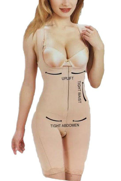 Knee Length Full Body Slimmer with Straps