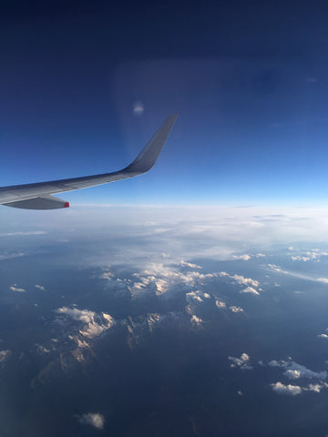Flying over the Alps on my way to Amman, Jordan