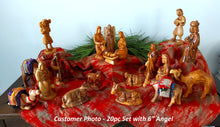 Load image into Gallery viewer, Olive Wood Nativity Set (20 pieces)