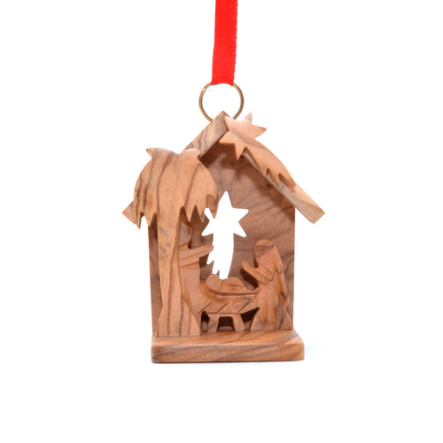 Olive Wood 3D Creche Ornament
