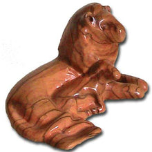 Load image into Gallery viewer, Olive Wood Lion and Lamb Carving