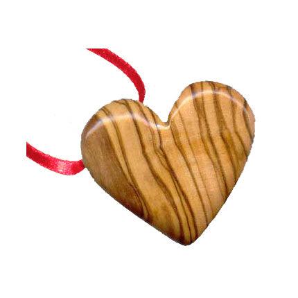 Olive Wood Heart Ornament