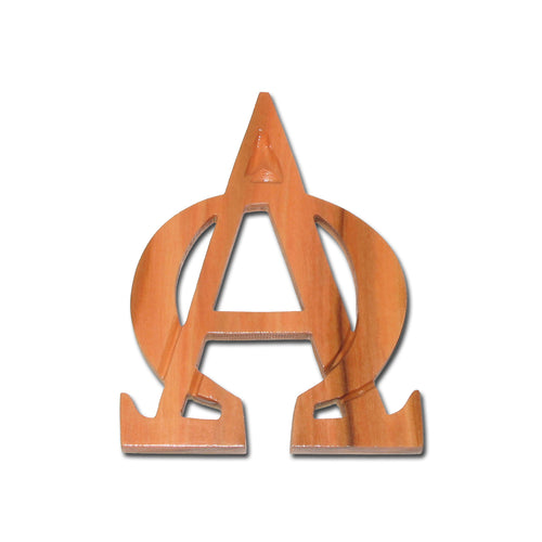 Olive Wood Alpha & Omega Ornament
