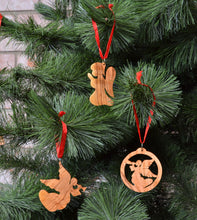 Load image into Gallery viewer, Olive Wood Angel Ornaments