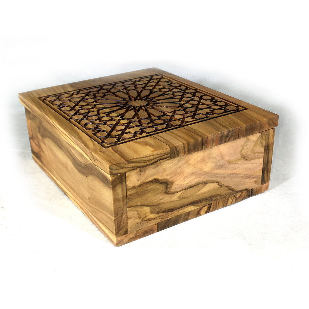 Al Hambra's Gate Olive Wood Decorative Keepsake Box