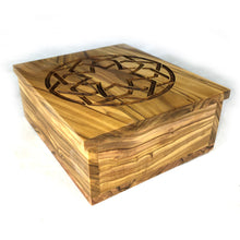 Load image into Gallery viewer, Infinite Embrace Decorative Olive Wood Keepsake Box