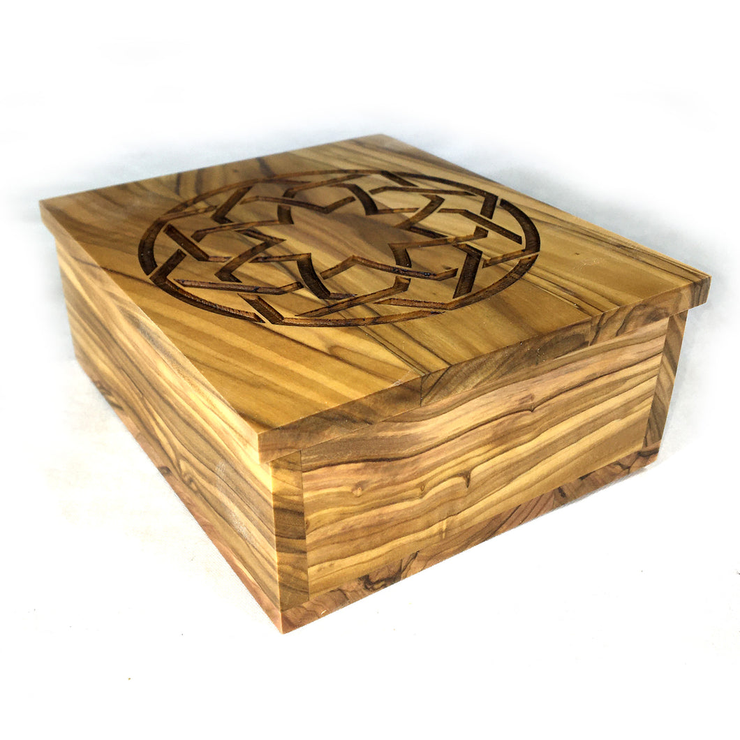 Infinite Embrace Decorative Olive Wood Keepsake Box