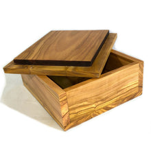 Load image into Gallery viewer, Handmade Olive Wood Decorative Box - Aladdin's Treasure Design