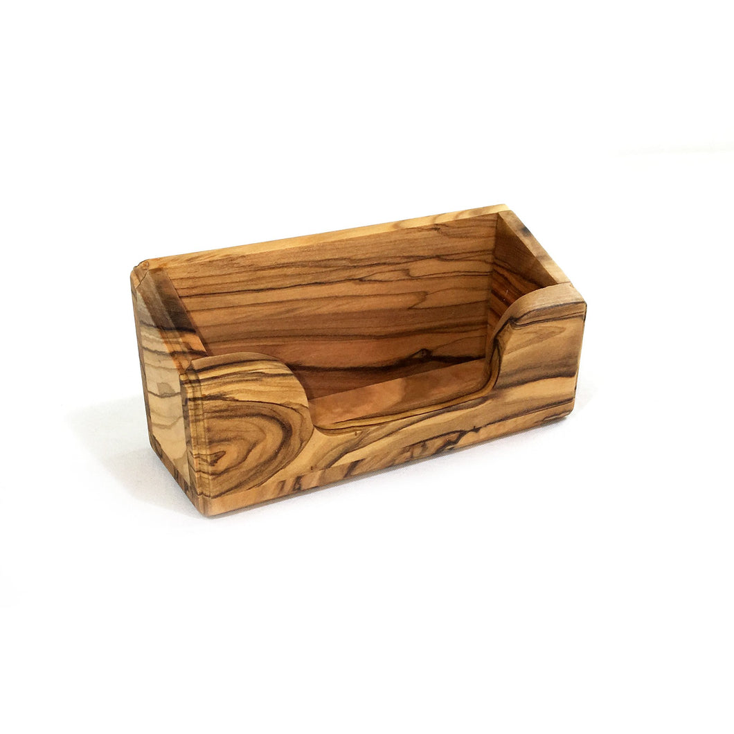 Olive Wood Business Card Holder - Box Style