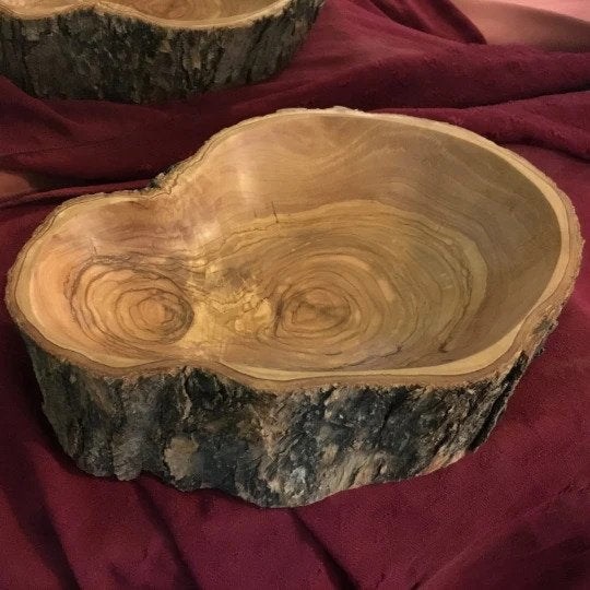 Olive Wood Custom Bark Bowls