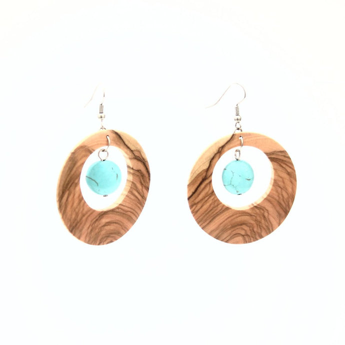Free Spirit Turquoise Hoop Earrings