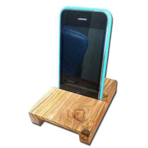 Olive Wood Handheld Device Stand (Natural Amplifier)