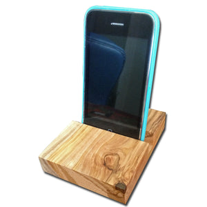 Olive Wood Handheld Device Stand