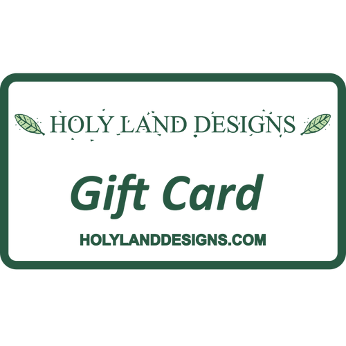 Holy Land Designs Gift Card for Olive Wood Hand Crafted Artisan Products
