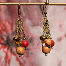 Load image into Gallery viewer, Alternate Honesty Bronze Dangle Earrings