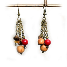 Load image into Gallery viewer, Honesty Bronze Dangle Earrings
