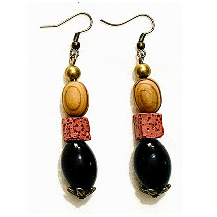 Lavish Lava Onyx Earrings