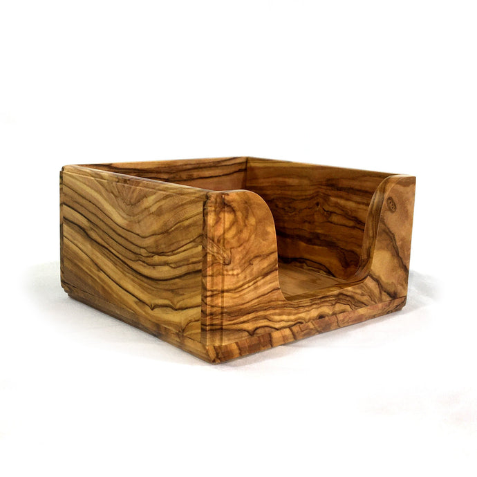 Olive Wood Memo Holder - 3in x 3in