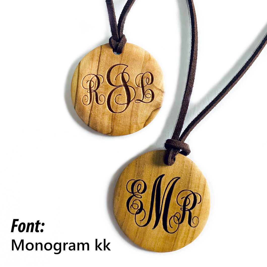 Personalized Monogrammed Medallion Necklaces