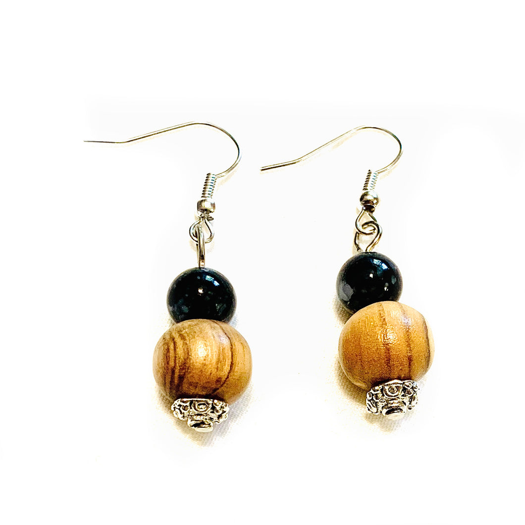 Moon Shadow Obsidian Earrings