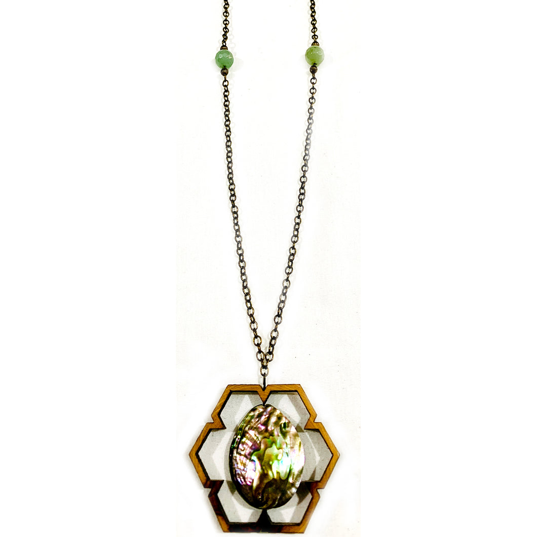 Mountain Spring Abalone Necklace